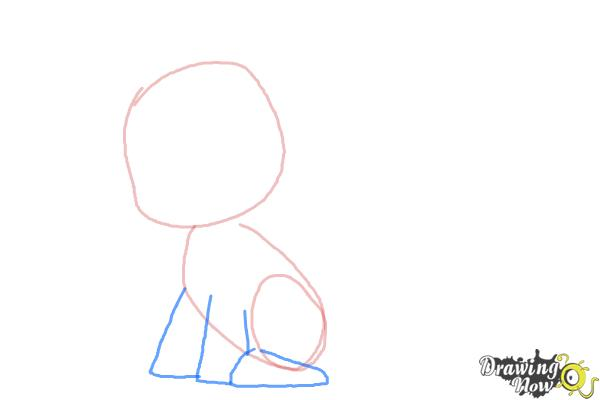 How to Draw Chibi Rarity from My Little Pony Friendship is Magic - Step 3