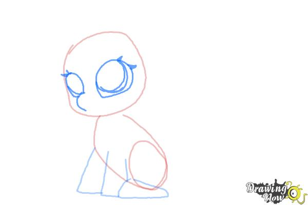 How to Draw Chibi Rarity from My Little Pony Friendship is Magic - Step 4
