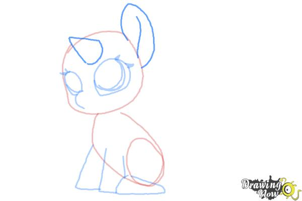 How to Draw Chibi Rarity from My Little Pony Friendship is Magic - Step 5
