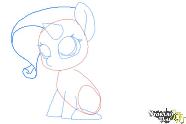 How to Draw Chibi Rarity from My Little Pony Friendship is Magic - Step 6