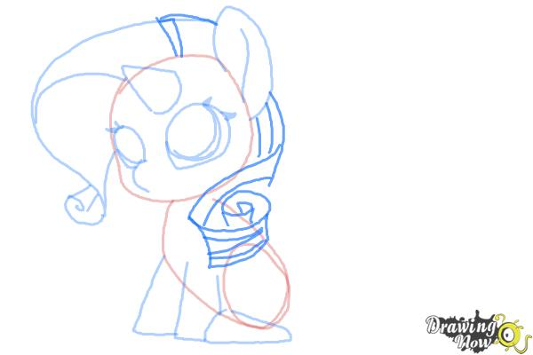 How to Draw Chibi Rarity from My Little Pony Friendship is Magic - Step 7