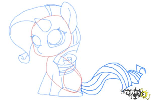 How to Draw Chibi Rarity from My Little Pony Friendship is Magic - Step 8