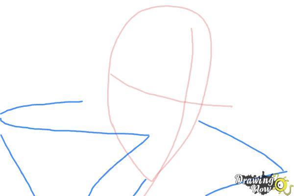 How to Draw Reiga, Wakamiya Kanata from Betrayal Knows My Name - Step 3