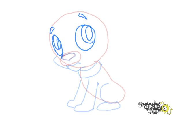 How to Draw Spike The Marvel Dog from Equestria Girls - Step 7