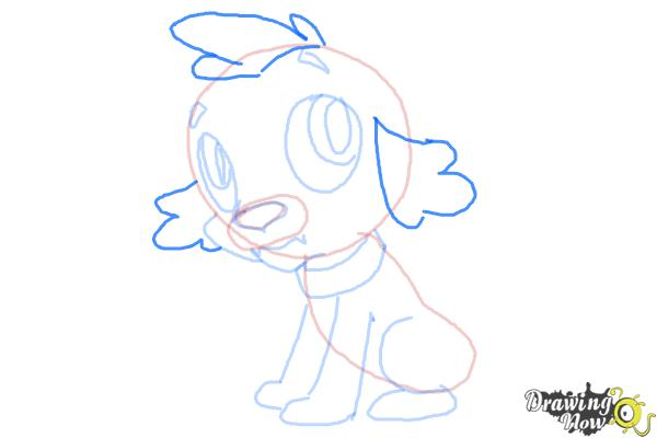 How to Draw Spike The Marvel Dog from Equestria Girls - Step 8