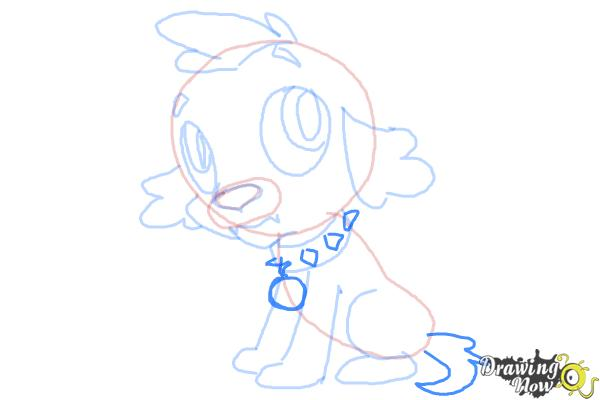 How to Draw Spike The Marvel Dog from Equestria Girls - Step 9