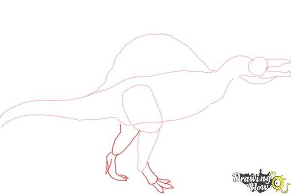 How to Draw a Spinosaurus - Step 4