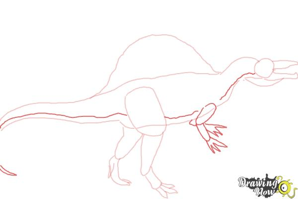 How to Draw a Spinosaurus - Step 5