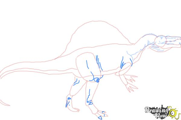 How to Draw a Spinosaurus - Step 7