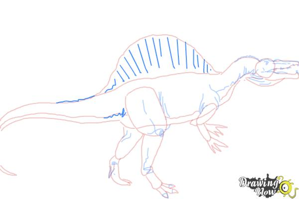 How to Draw a Spinosaurus - Step 8