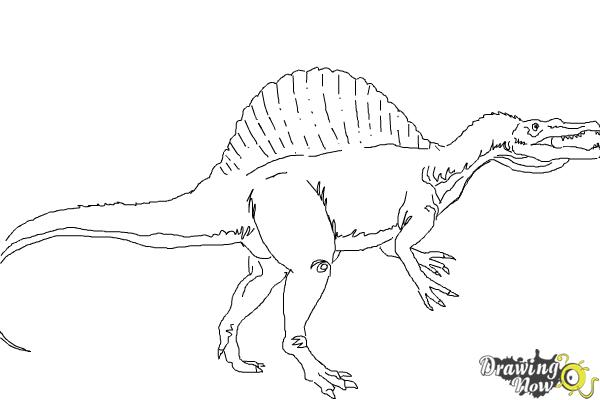 How to Draw a Spinosaurus - Step 9