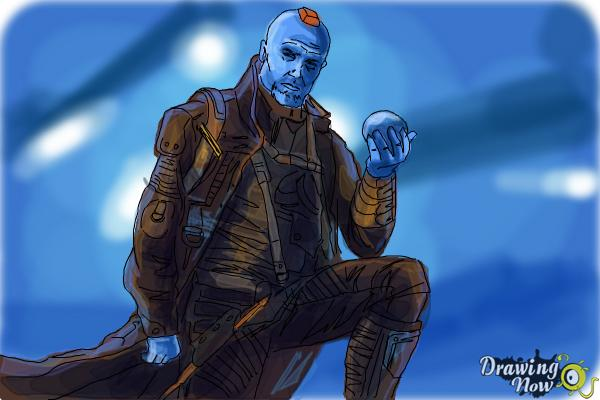 How to Draw Yondu from Guardian Of The Galaxy - Step 11