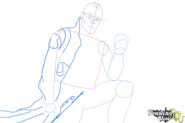 How to Draw Yondu from Guardian Of The Galaxy - Step 6