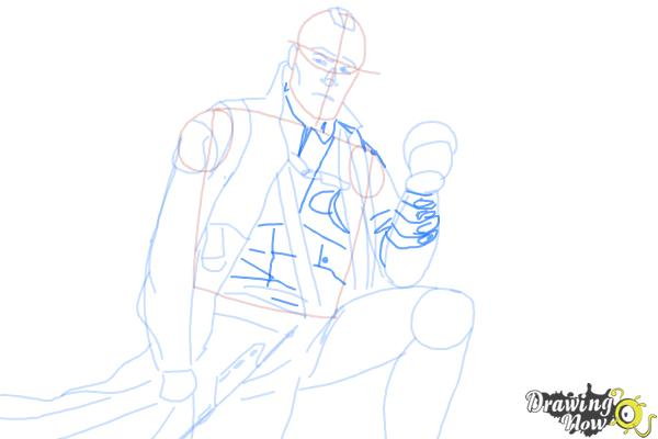 How to Draw Yondu from Guardian Of The Galaxy - Step 8