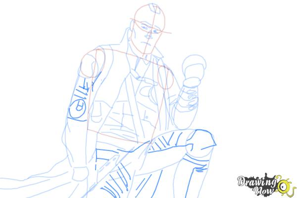 How to Draw Yondu from Guardian Of The Galaxy - Step 9