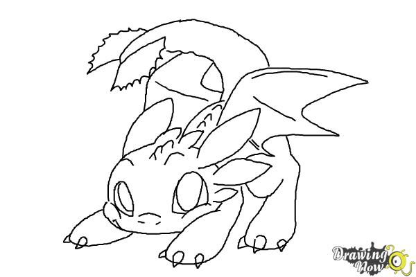 How To Draw Chibi Toothless Drawingnow