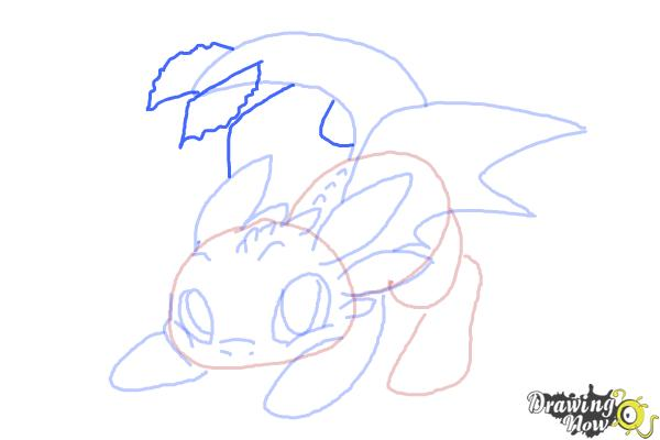 How to Draw Chibi Toothless - Step 9