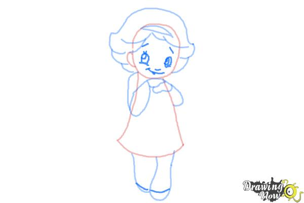 How to Draw a Cute Girl - Step 7