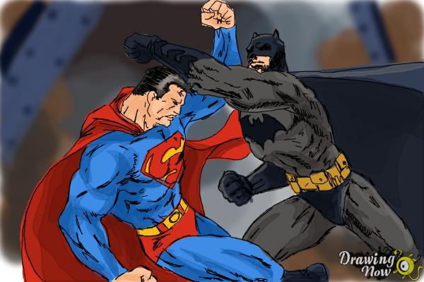 How To Draw Batman Vs Superman Drawingnow