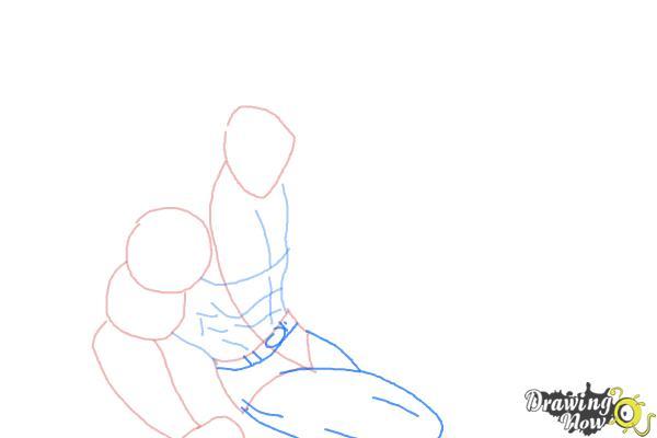How to Draw Batman VS Superman - Step 3