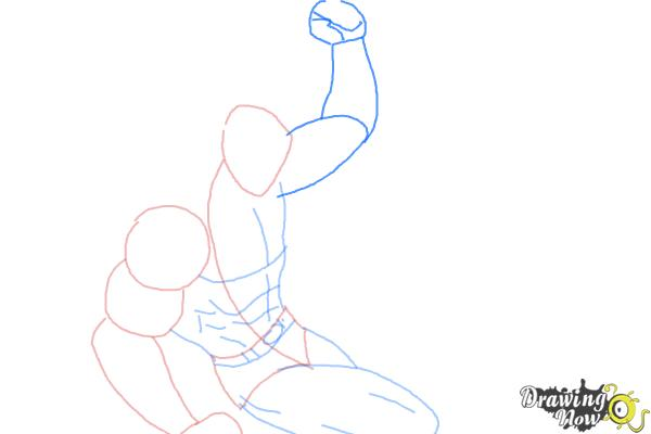 How to Draw Batman VS Superman - Step 4