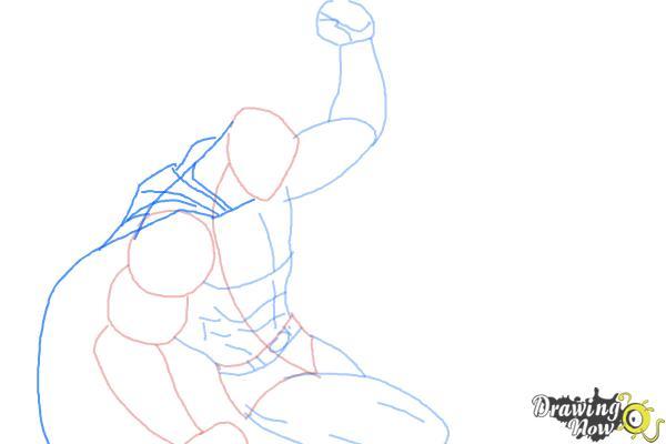 How to Draw Batman VS Superman - Step 5