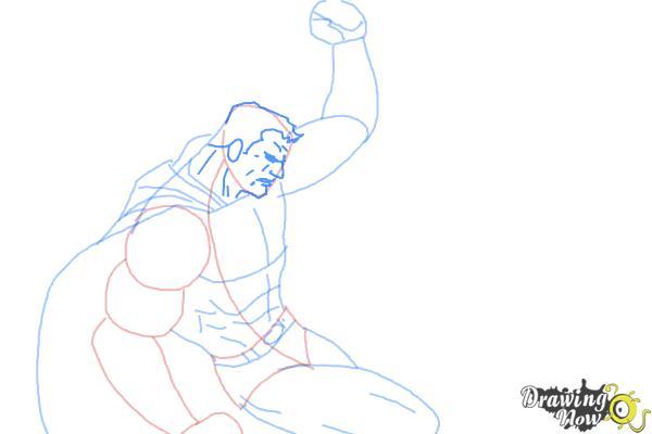 How to Draw Batman VS Superman - Step 6