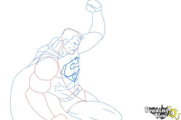 How to Draw Batman VS Superman - Step 7