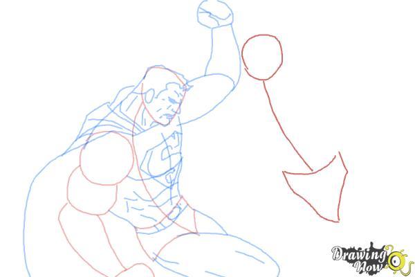 How to Draw Batman VS Superman - Step 8