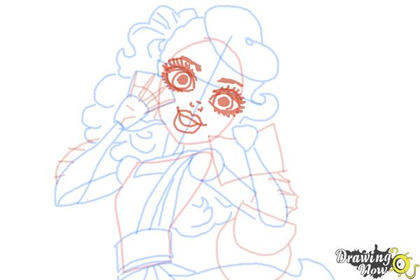 How to Draw Lorna Mcnessie from Monster High - Step 9