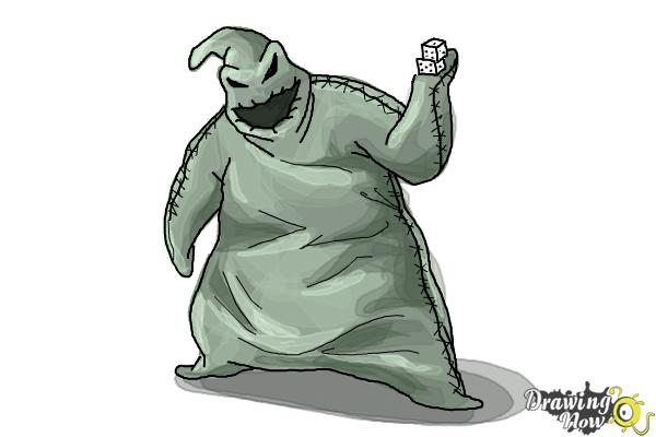 How to Draw Oogie Boogie, Disney Villain - Step 10
