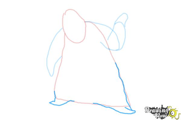How to Draw Oogie Boogie, Disney Villain - Step 5