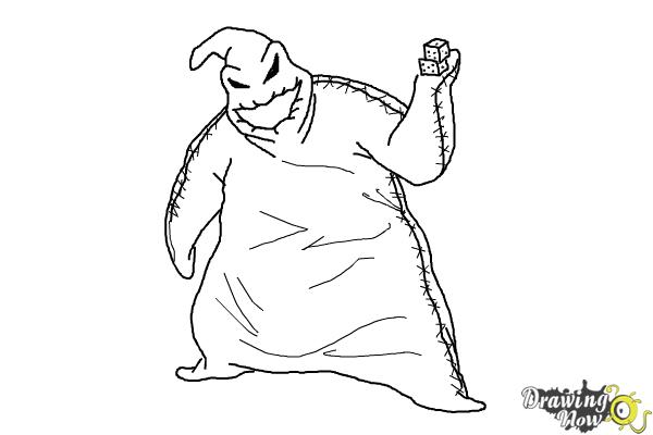 How to Draw Oogie Boogie, Disney Villain - Step 9