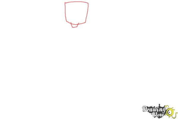 How to Draw Chris Mclean from Total Drama - Step 1