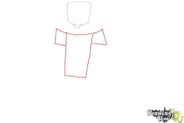 How to Draw Chris Mclean from Total Drama - Step 2