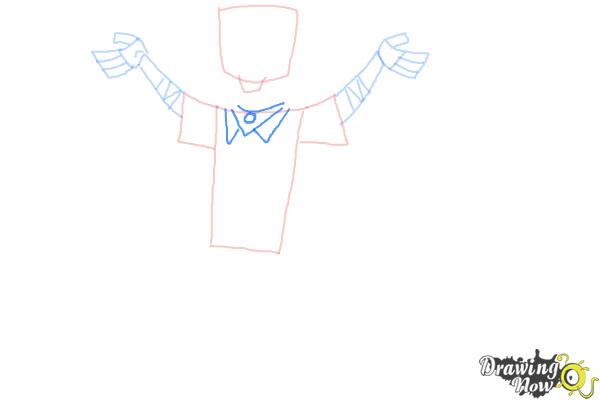 How to Draw Chris Mclean from Total Drama - Step 6