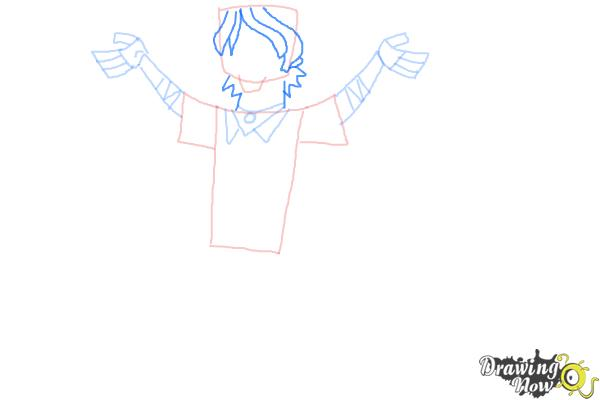 How to Draw Chris Mclean from Total Drama - Step 7