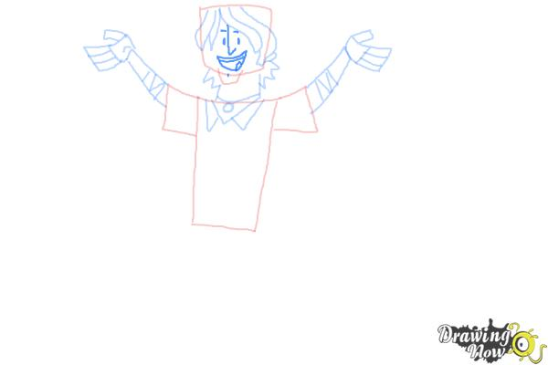 How to Draw Chris Mclean from Total Drama - Step 8