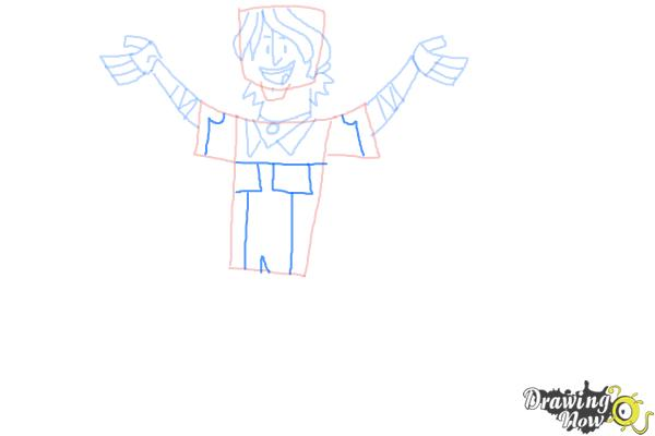 How to Draw Chris Mclean from Total Drama - Step 9