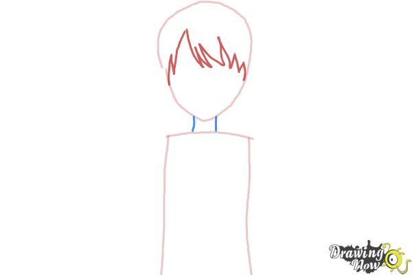 How to Draw Rizumu Amamiya from Pretty Rhythm - Step 2