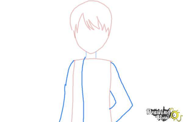 How to Draw Rizumu Amamiya from Pretty Rhythm - Step 3