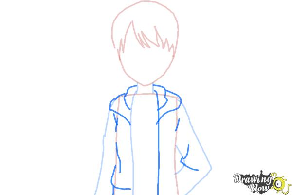 How to Draw Rizumu Amamiya from Pretty Rhythm - Step 4