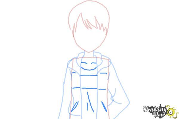 How to Draw Rizumu Amamiya from Pretty Rhythm - Step 5