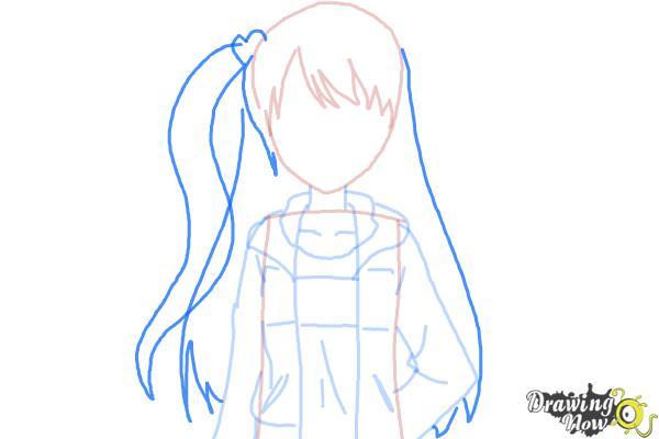 How to Draw Rizumu Amamiya from Pretty Rhythm - Step 6