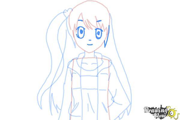 How to Draw Rizumu Amamiya from Pretty Rhythm - Step 7