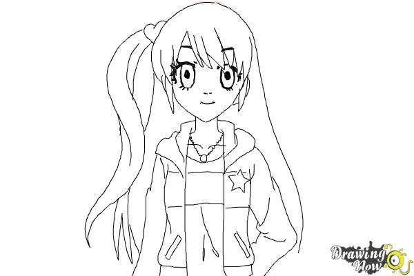 How to Draw Rizumu Amamiya from Pretty Rhythm - Step 8