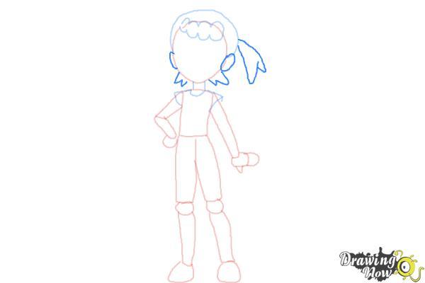 How to Draw Bonnie from Pokemon - Step 6