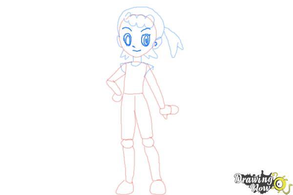 How to Draw Bonnie from Pokemon - Step 7