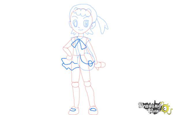 How to Draw Bonnie from Pokemon - Step 9