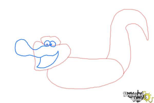 How to Draw Tick-Tock The Crocodile, Disney Villain - Step 3